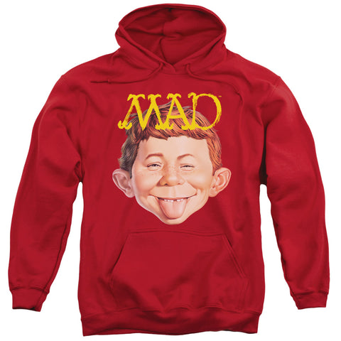 MAD/ABSOLUTELY MAD-ADULT PULL-OVER HOODIE-RED-2X