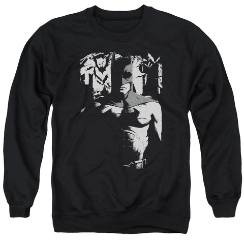 BATMAN BEGINS/BIRTH OF KNIGHT - ADULT CREWNECK SWEATSHIRT - BLACK - SM
