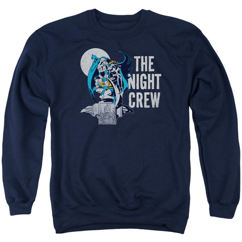DC/NIGHT CREW - ADULT CREWNECK SWEATSHIRT - NAVY - LG