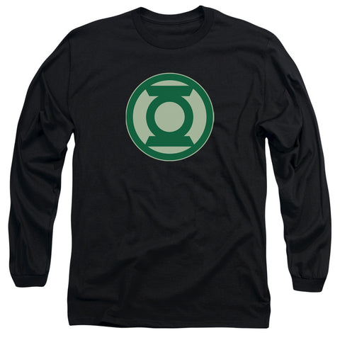 GREEN LANTERN/GREEN SYMBOL - L/S ADULT 18/1 - BLACK - MD