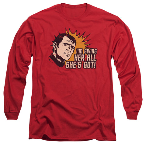 STAR TREK/EVERYTHING-L/S ADULT 18/1-RED-SM