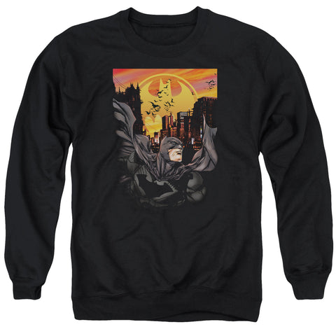 BATMAN/ALWAYS ON CALL - ADULT CREWNECK SWEATSHIRT - BLACK - 2X
