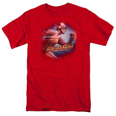THE FLASH/FASTEST MAN-S/S ADULT 18/1-RED-5X