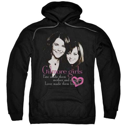 GILMORE GIRLS/TITLE-ADULT PULL-OVER HOODIE-BLACK-2X