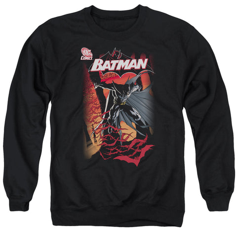 BATMAN/#655 COVER - ADULT CREWNECK SWEATSHIRT - BLACK - SM