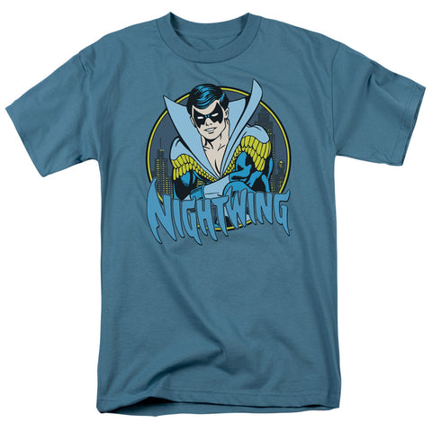 DC/NIGHTWING - S/S ADULT 18/1 - SLATE - SM