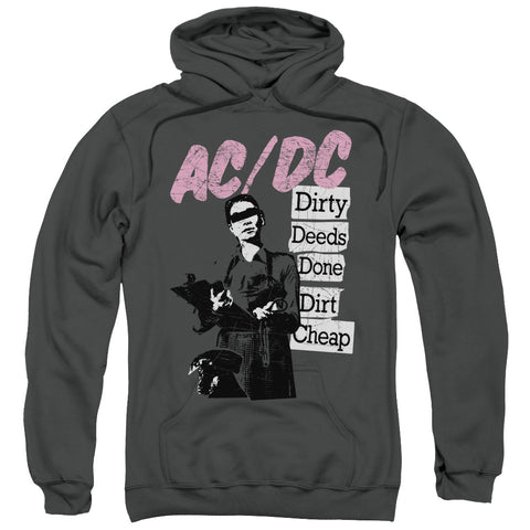 ACDC/DIRTY DEEDS-ADULT PULL-OVER HOODIE-CHARCOAL-MD
