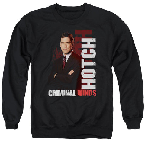 CRIMINAL MINDS/HOTCH - ADULT CREWNECK SWEATSHIRT - BLACK - 2X