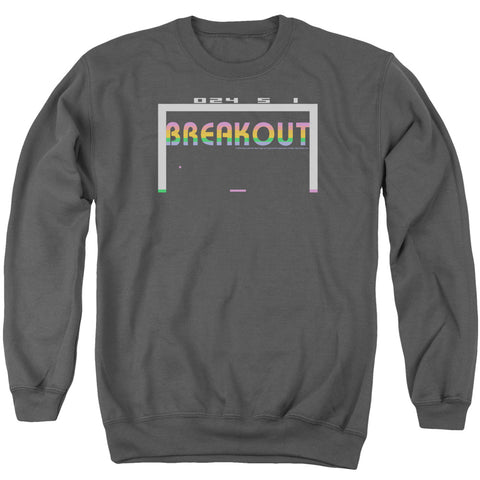 ATARI/BREAKOUT 2600-ADULT CREWNECK SWEATSHIRT-CHARCOAL-MD