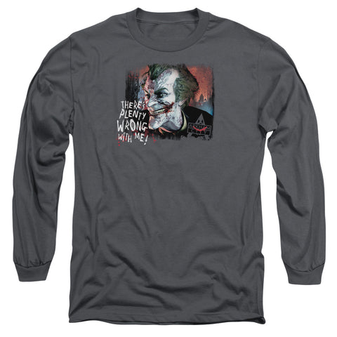 ARKHAM CITY/PLENTY WRONG - L/S ADULT 18/1 - CHARCOAL - XL