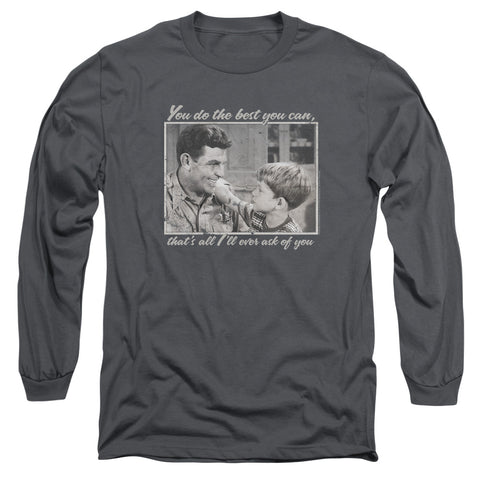 ANDY GRIFFITH/WISE WORDS-L/S ADULT 18/1-CHARCOAL-MD