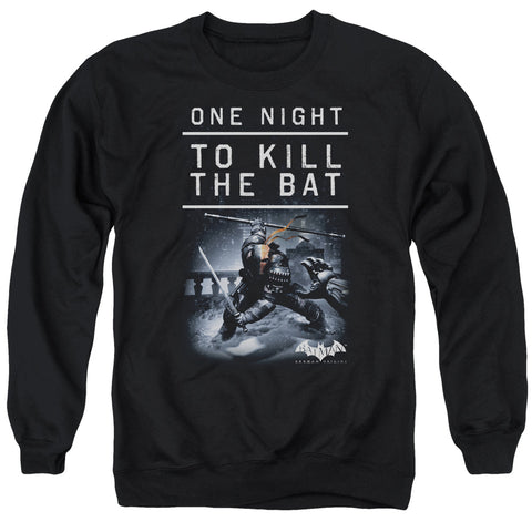 BATMAN ARKHAM ORIGINS/ONE NIGHT - ADULT CREWNECK SWEATSHIRT - BLACK - SM