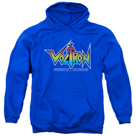 VOLTRON/LOGO-ADULT PULL-OVER HOODIE-ROYAL BLUE-3X