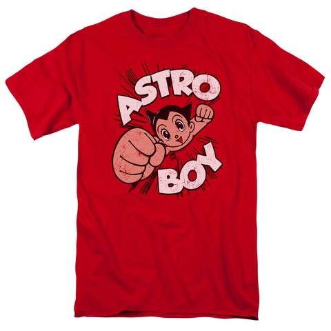 ASTRO BOY/FLYING-S/S ADULT 18/1-RED-MD