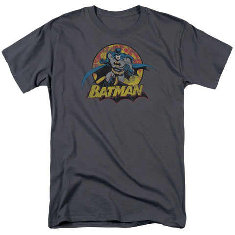 JLA/BATMAN ROUGH DISTRESS - S/S ADULT 18/1 - CHARCOAL - XL