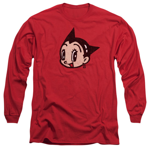 ASTRO BOY/FACE-L/S ADULT 18/1-RED-XL