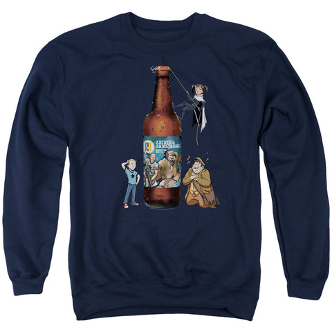 ARCHER & ARMSTRONG/ALE-ADULT CREWNECK SWEATSHIRT-NAVY-3X