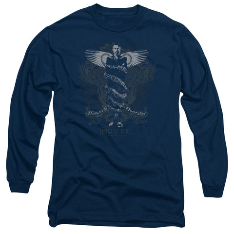 HOUSE/HUMANITY IS OVERRATED - L/S ADULT 18/1 - NAVY - SM