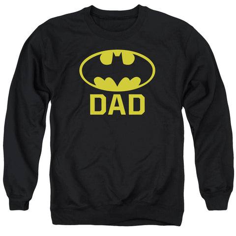 BATMAN/BAT DAD - ADULT CREWNECK SWEATSHIRT - BLACK - LG