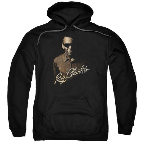 RAY CHARLES/THE DEEP-ADULT PULL-OVER HOODIE-BLACK-3X