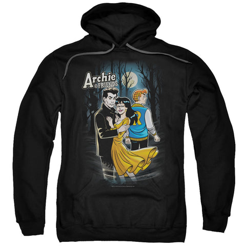 ARCHIE COMICS/COVER #146-ADULT PULL-OVER HOODIE-BLACK-2X