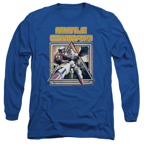 ATARI/MISSLE COMMANDER-L/S ADULT 18/1-ROYAL BLUE-SM