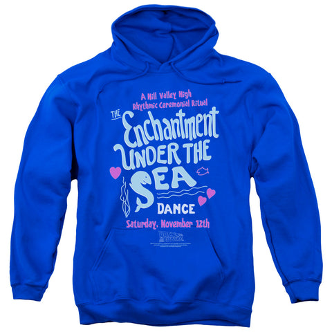 BACK TO THE FUTURE/UNDER THE SEA - ADULT PULL-OVER HOODIE - Royal Blue - 2X