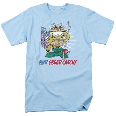 GARFIELD/ONE GREAT CATCH-S/S ADULT 18/1 - LIGHT BLUE - 5X