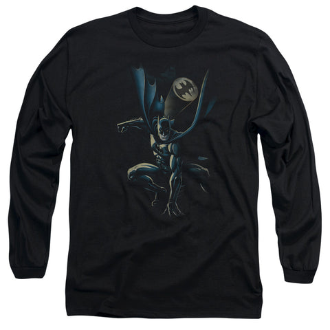 BATMAN/CALLING ALL BATS - L/S ADULT 18/1 - BLACK - 2X