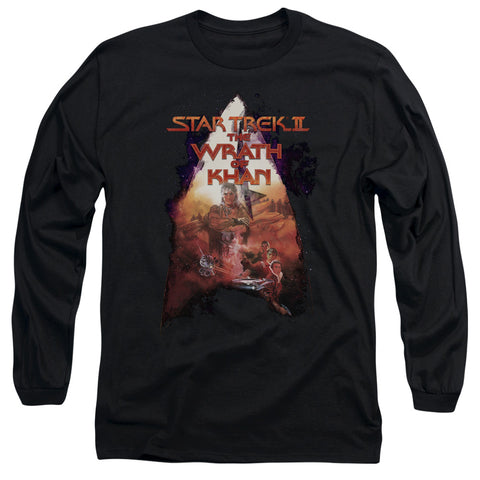 STAR TREK/TWOK POSTER - L/S ADULT 18/1 - BLACK - LG