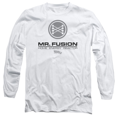 BACK TO THE FUTURE II/MR. FUSION LOGO - L/S ADULT 18/1 - WHITE - LG