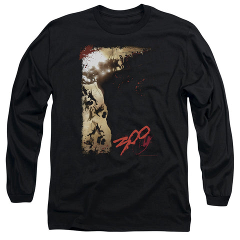 300/THE CLIFF-L/S ADULT 18/1-BLACK-2X