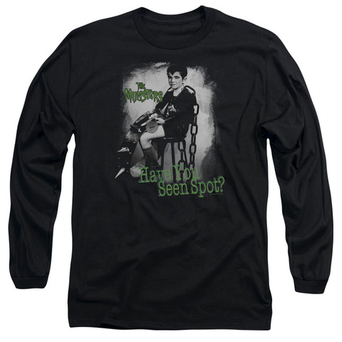 THE MUNSTERS/HAVE YOU SEEN SPOT - L/S ADULT 18/1 - BLACK - LG