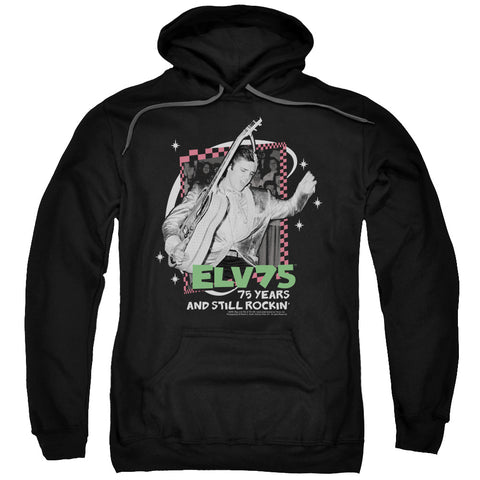 ELVIS/STILL ROCKIN-ADULT PULL-OVER HOODIE-BLACK-XL