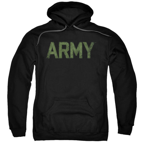ARMY/TYPE-ADULT PULL-OVER HOODIE-BLACK-MD