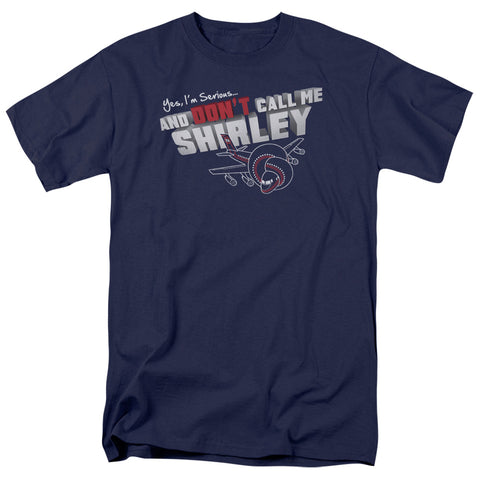 AIRPLANE/DONT CALL ME SHIRLEY - S/S ADULT 18/1 - NAVY - MD