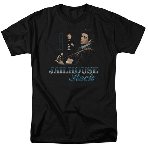 ELVIS/JAILHOUSE ROCK - S/S ADULT 18/1 - BLACK - XL