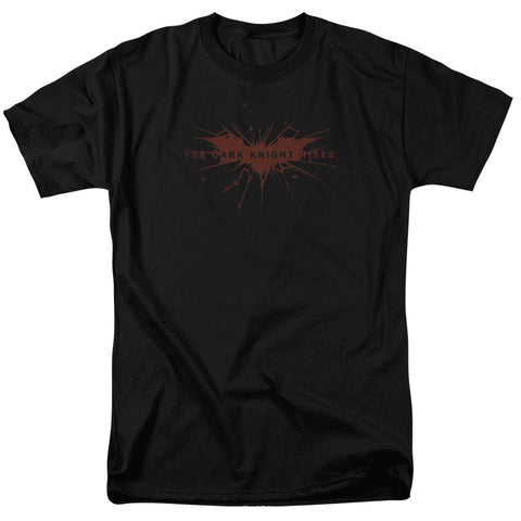 DARK KNIGHT RISES/DISTRESSED BAT - S/S ADULT 18/1 - BLACK - 2X