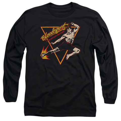 BLOODSPORT/ACTION PACKED-L/S ADULT 18/1-BLACK-2X