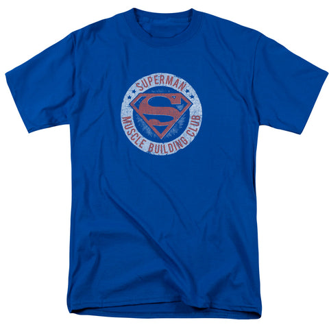 SUPERMAN/MUSCLE CLUB - S/S ADULT 18/1 - ROYAL - XL
