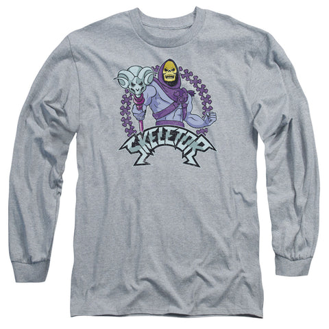 MASTERS OF THE UNIVERSE/SKELETOR-L/S ADULT 18/1-ATHLETIC HEATHER-SM