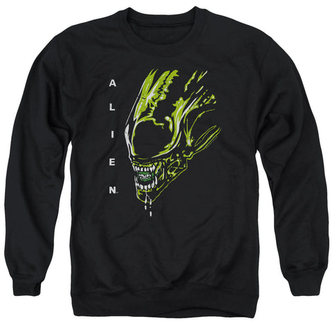 ALIEN/ACID DROOL - ADULT CREWNECK SWEATSHIRT - BLACK - 2X