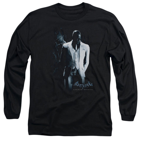 BATMAN ARKHAM ORIGINS/BLACK MASK - L/S ADULT 18/1 - BLACK - MD