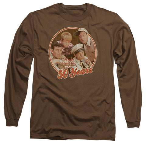 ANDY GRIFFITH/50 YEARS-L/S ADULT 18/1-COFFEE-LG