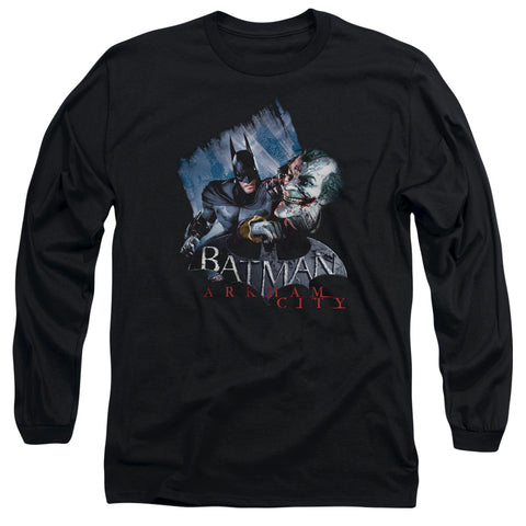 ARKHAM CITY/JOKE'S ON YOU! - L/S ADULT 18/1 - BLACK - 2X