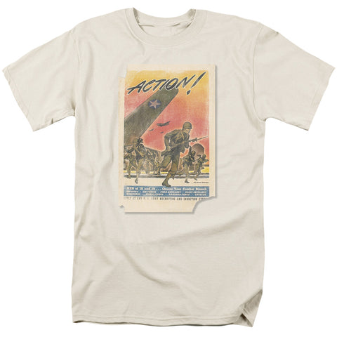ARMY/ACTION POSTER-S/S ADULT 18/1-CREAM/IVORY-XL