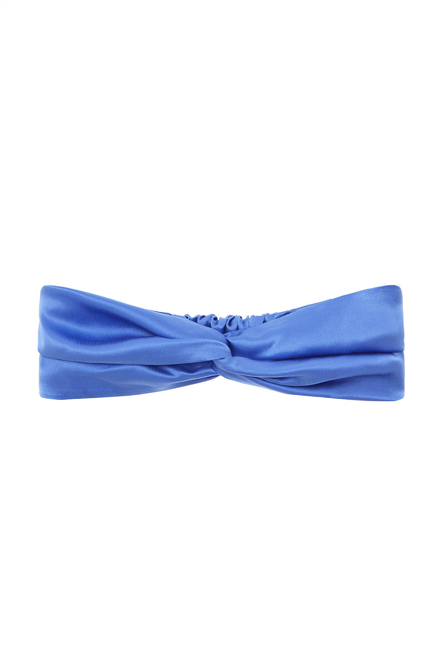 The Headband | Sapphire Blue Satin