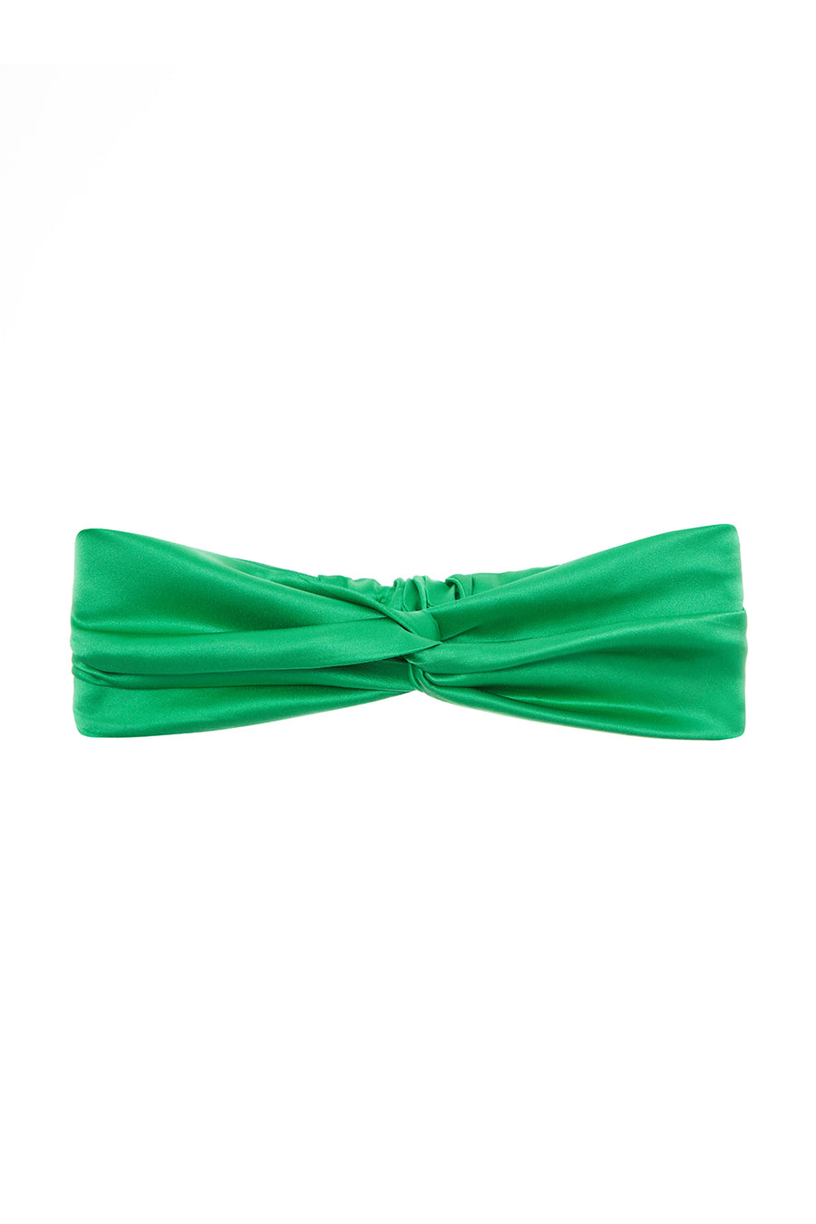The Headband | Emerald Green Satin