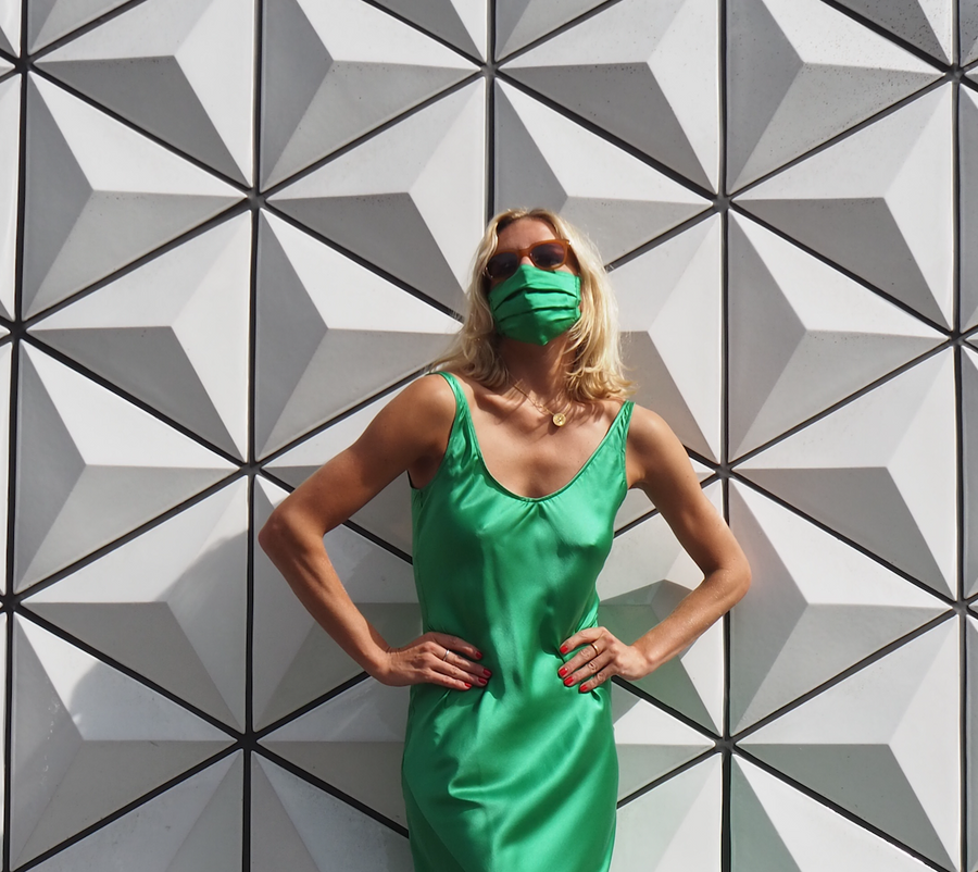 Silk Mask | Emerald Green (4607572344913)