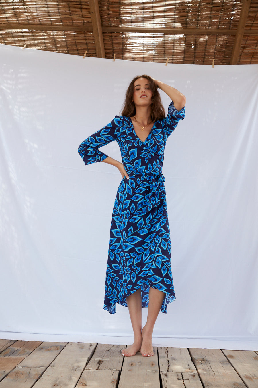 the long flirt , shirt dress , silk dress  - valle + vik (4526785101905)